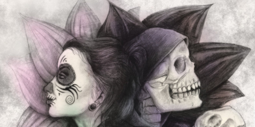 Detail from the cover art of I, Nefarious.
