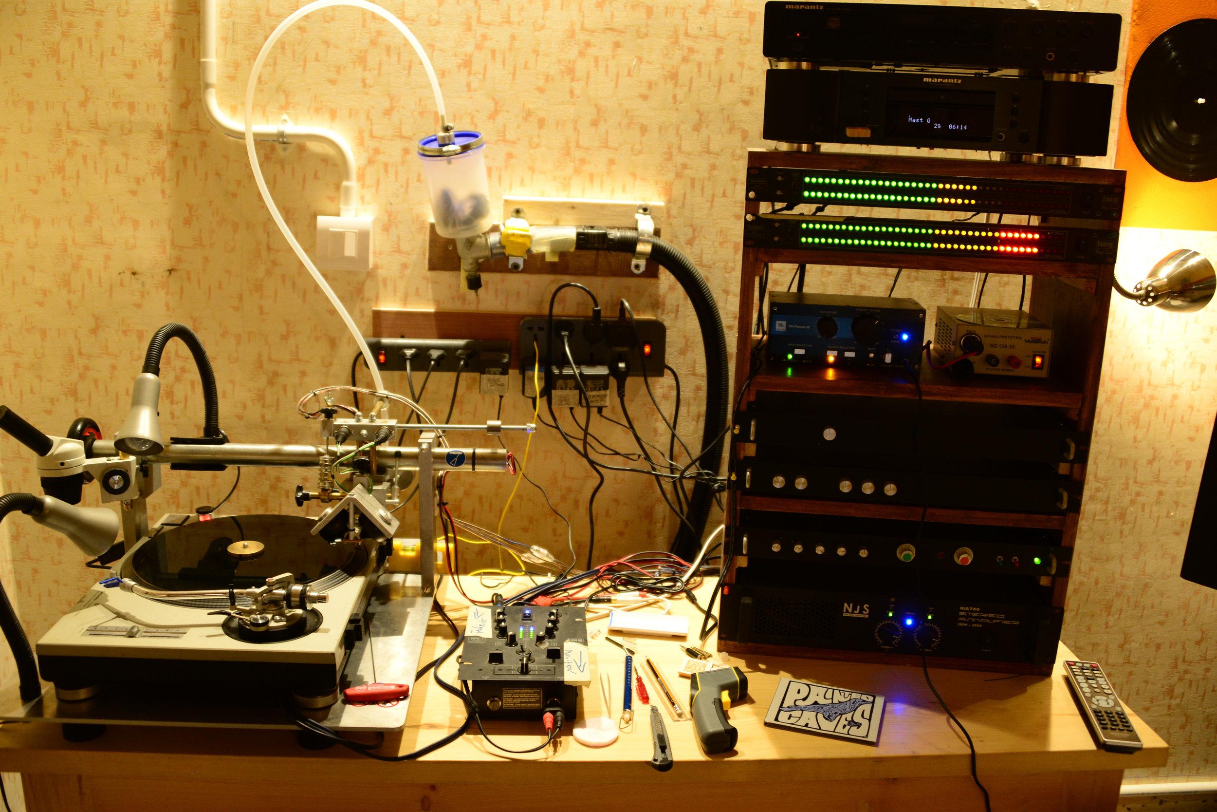 Amarrass' vinyl-cutting setup.Photo by Ankur Malhotra.