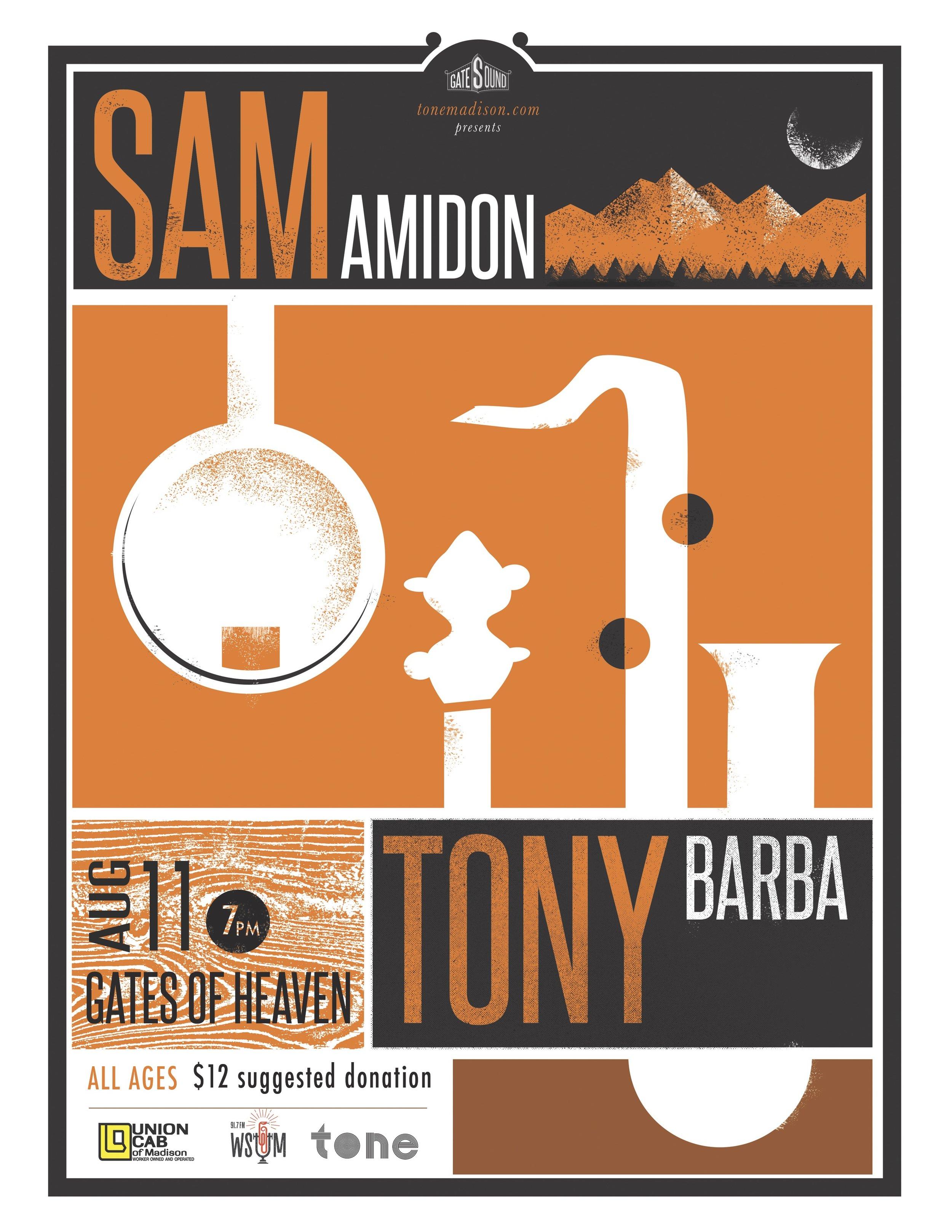 8/9/2016: Sam Amidon, Tony Barba