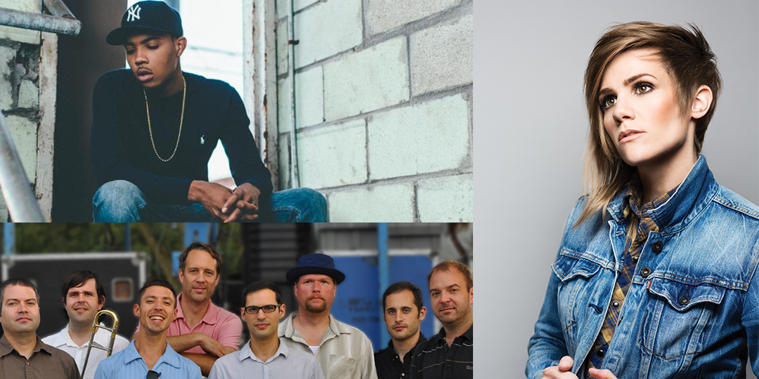Clockwise from left: G Herbo at The Frequency on December 3, Cameron Esposito begins a run of shows at Comedy Club on State on December 3, and Mama Digdown's Brass Band   plays WORT's Anniversary party on December 5.