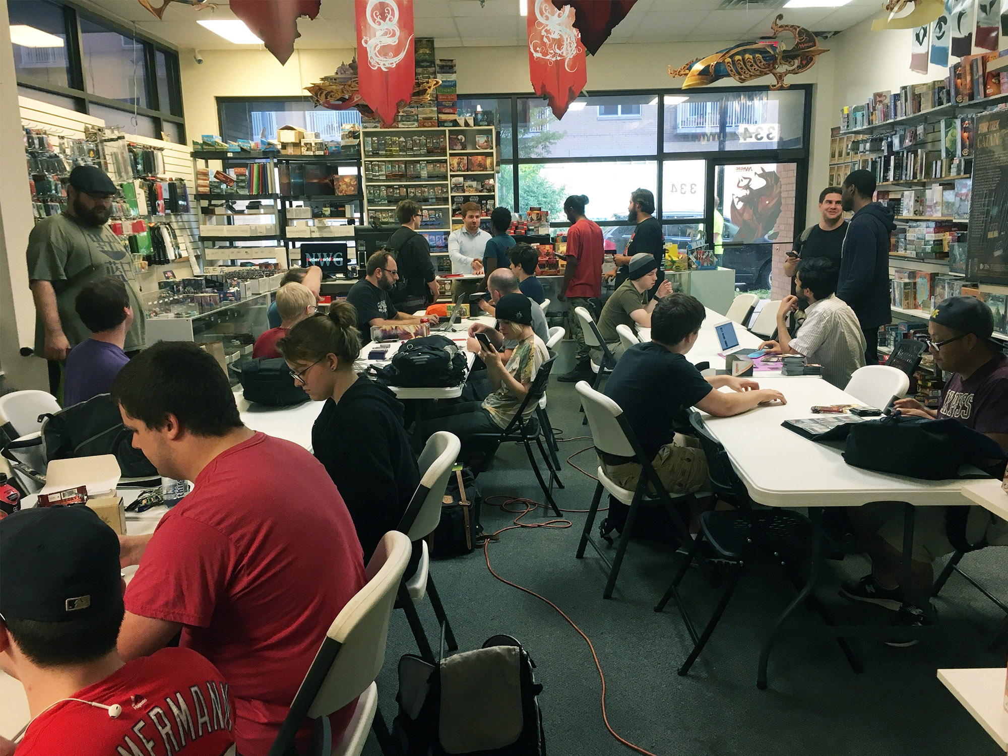 Friday Night Magic in progress at Netherworld Games in downtown Madison. Photo by Henry Solotaroff-Webber.