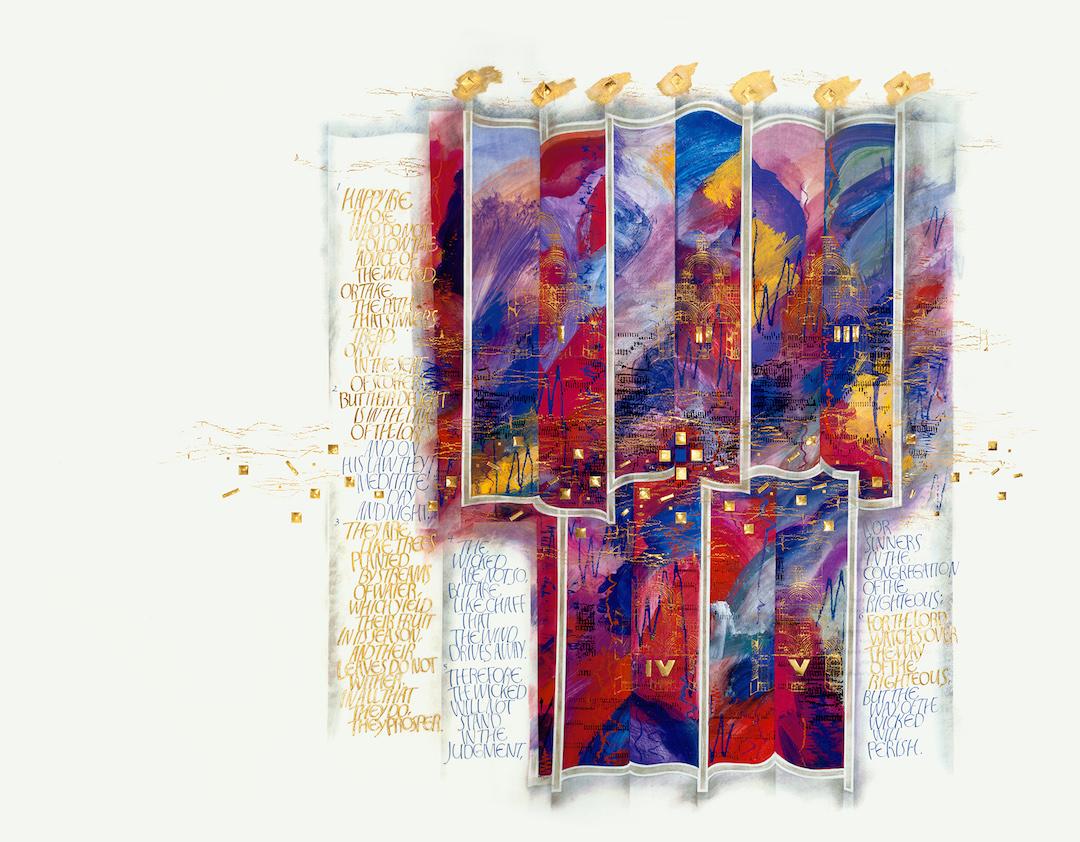 Psalms Frontispiece, Donald Jackson, Copyright 2004, The Saint John's Bible, Saint John's University, Collegeville, Minnesota, USA.