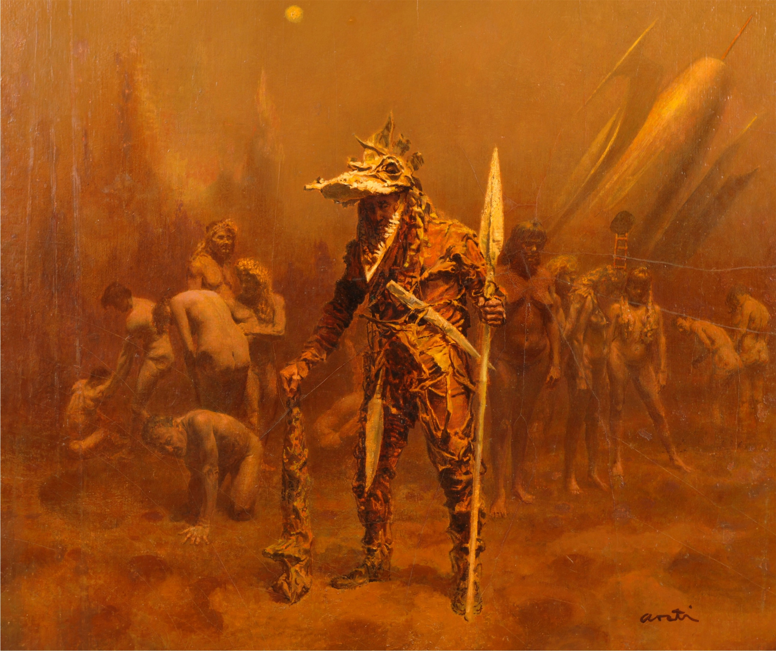 "James Avati, ""Deathworld 2."" Image courtesy Chazen Museum of Art and Korshak Collection."