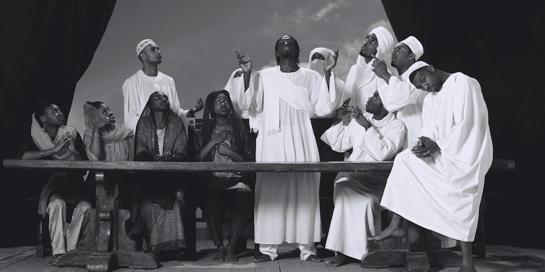 """Detail from """"Last Supper I,"""" 2012, by Faisal Abdu'Allah and Kofi Allen. Courtesy of the artists and  Magnolia Editions ."""