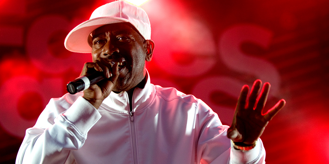 Kurtis Blow performing in 2013. Photo by  Mad Wraith on Flickr .