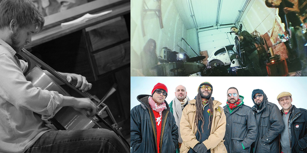 Clockwise from left: Brennan Connors And Stray Passage play Mickey's Tavern on November 28, The Minotaurs play Bright Red Studios on November 29, and Natty Nation play November 27 at the High Noon Saloon.