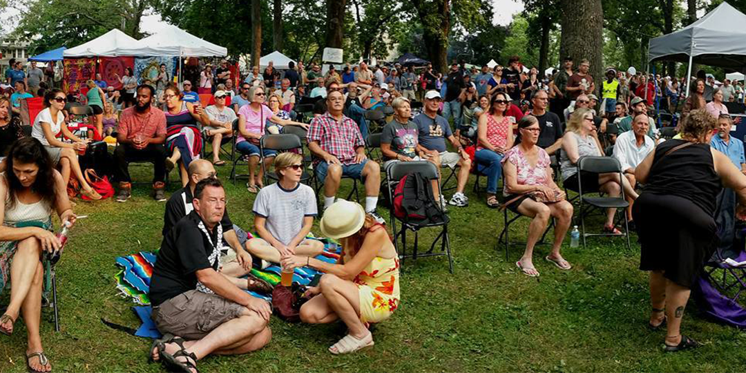 The crowd at this year's Orton Park Festival. Photo by Jim Ackerman.