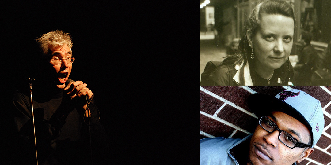Clockwise from left: Jaap Blonk is at Threshold on November 3, Vanessa Renwick will attend a screening of her films at Vilas Hall on October 29, and Sincere Life plays Freakfest on October 31.