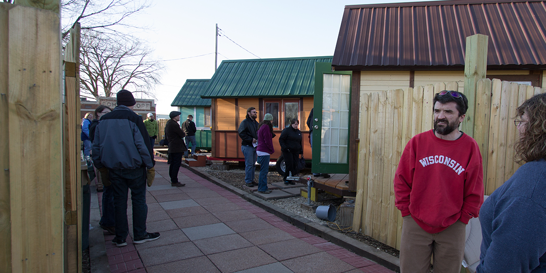 Occupy Madison's tiny-house village on the East Side. Photo from  occupymadisoninc.com .