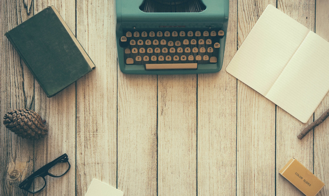 Um, you actually don't need any of these things to write for us. Especially not the pinecone. Photo by  Dustin Lee via Unsplash .