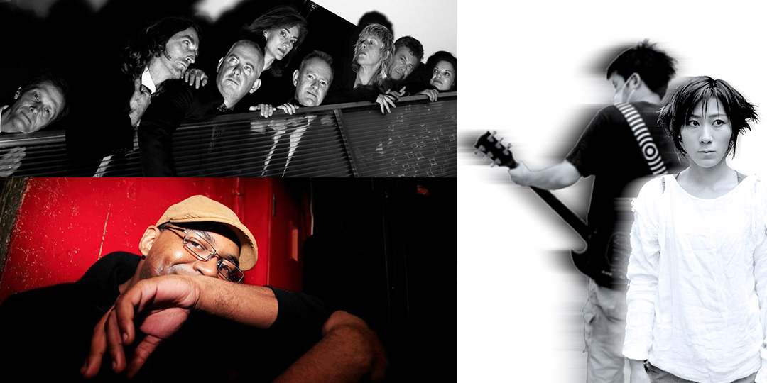 Clockwise from top left: The Mekons play the Mineral Point Opera House on July 14; Melt-Banana plays the High Noon Saloon on July 15; Claude Young plays La Fete De Marquette and the High Noon on July 10.
