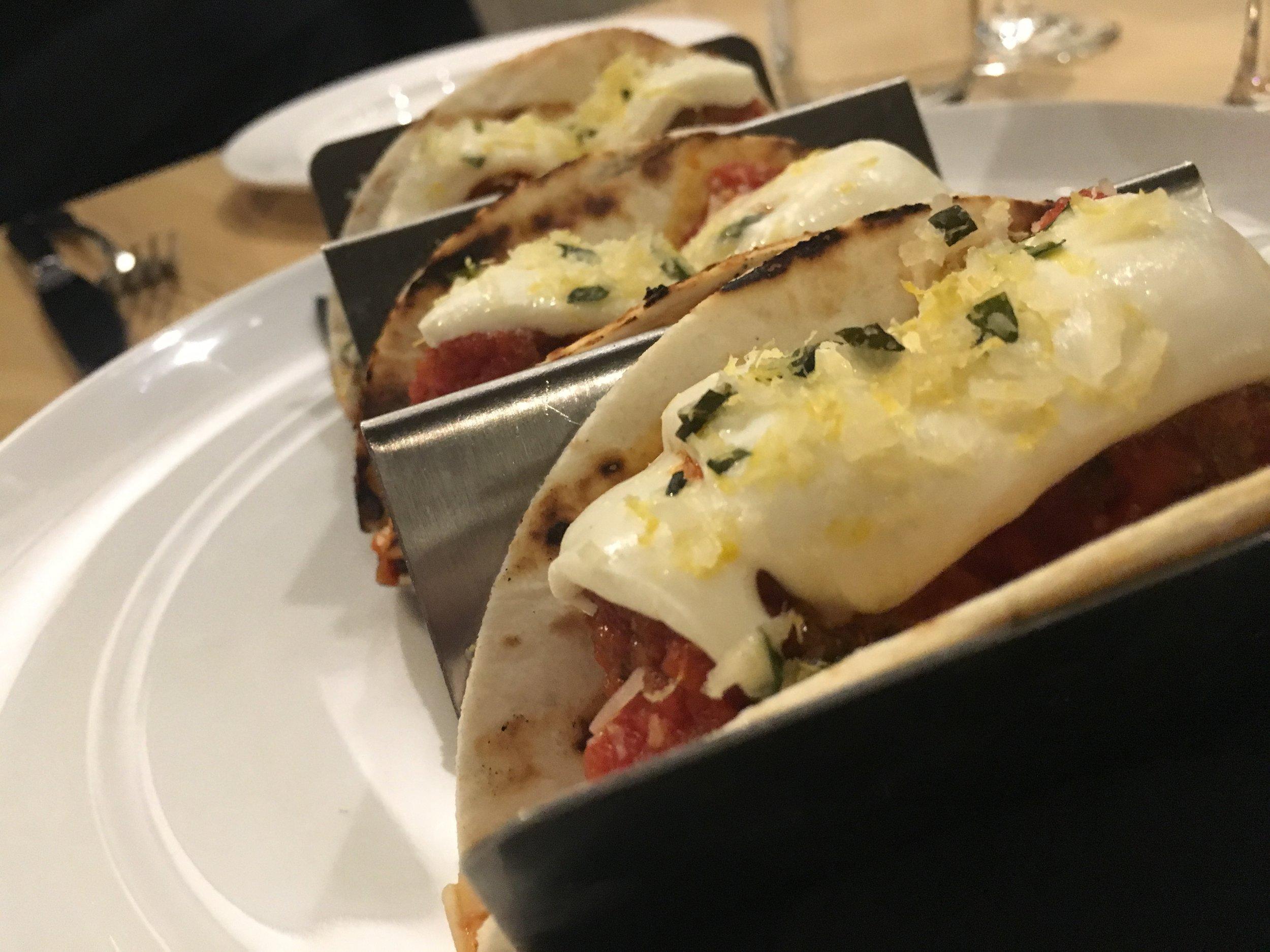 Mozzarella on a taco: Intriguing and probably wrong.