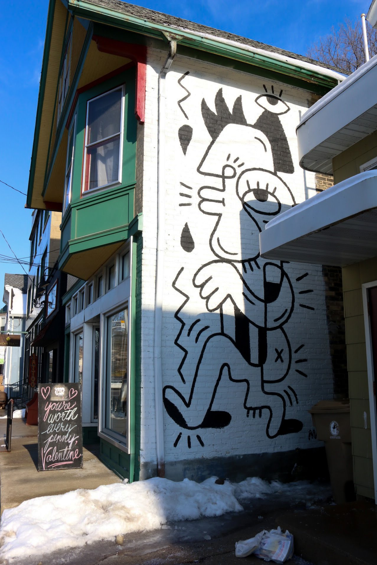 A mural on East Johnson Street, by Madison-based artist Stefan Matioc, who draws inspiration from street art.