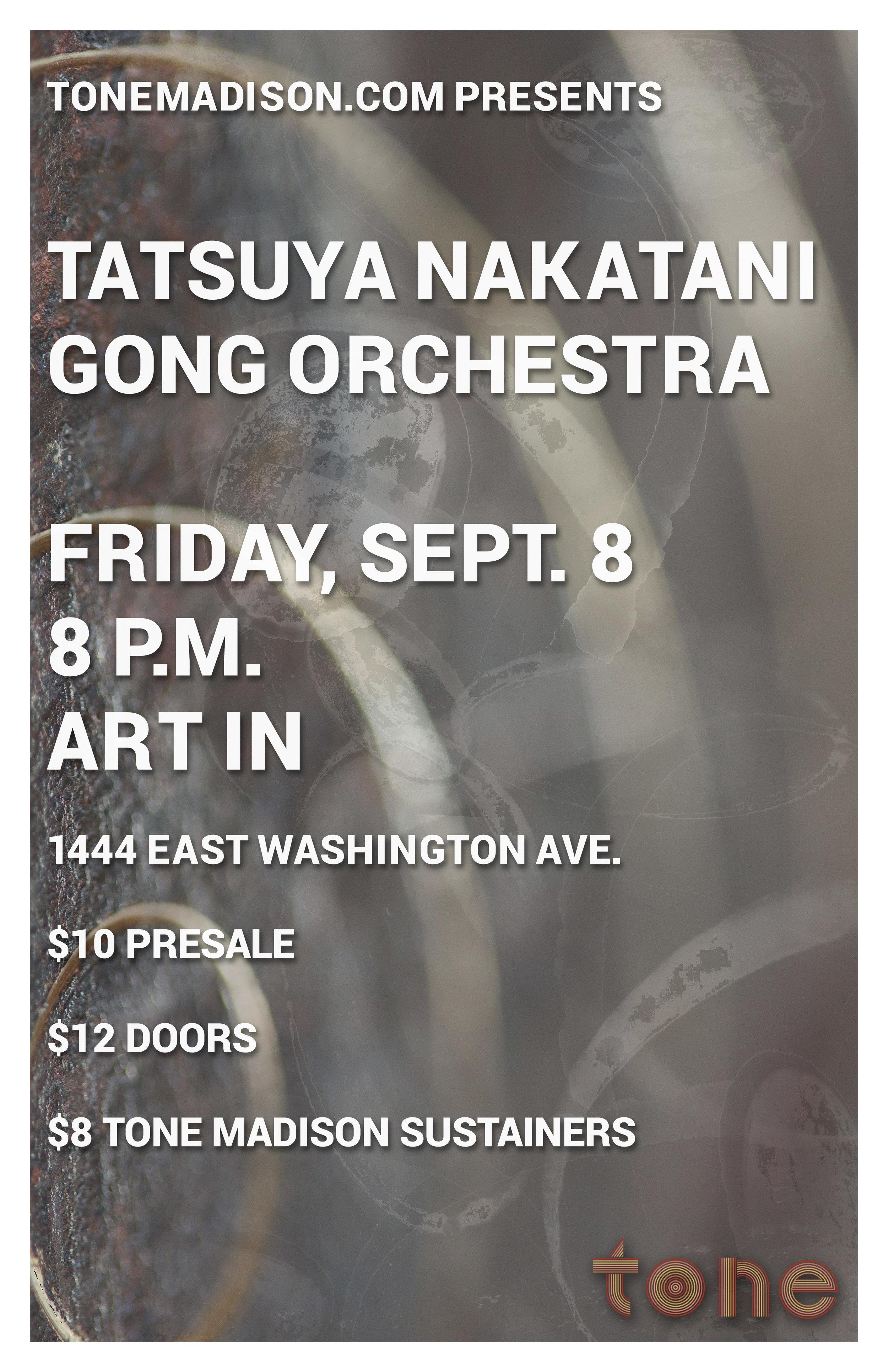 9/8/2017: Tatsuya Nakatani Gong Orchestra