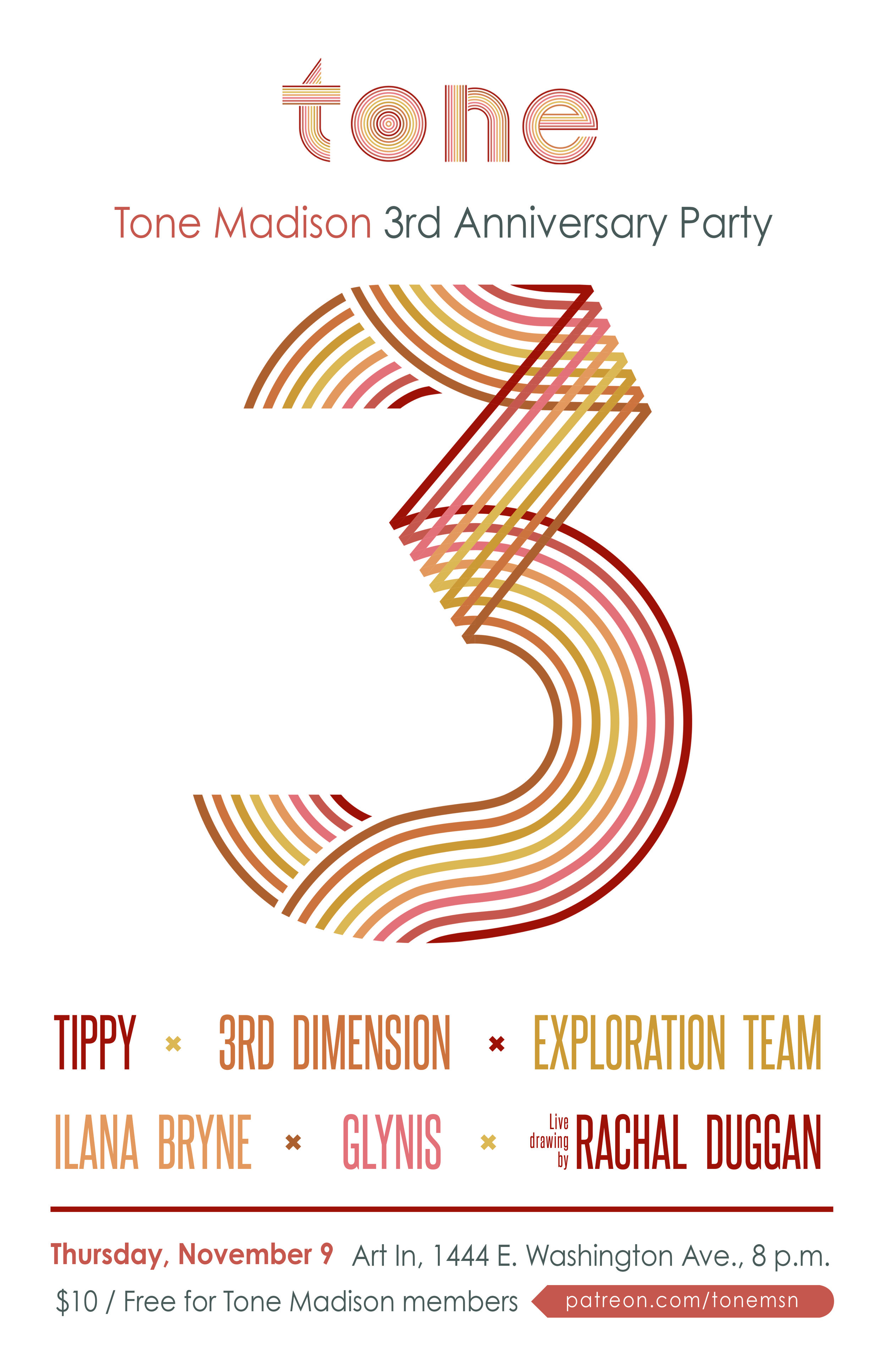 11/9/2017: Tone Madison 3rd Anniversary Party