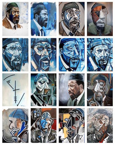 More of Martel Chapman's Thelonious Monk-inspired paintings.