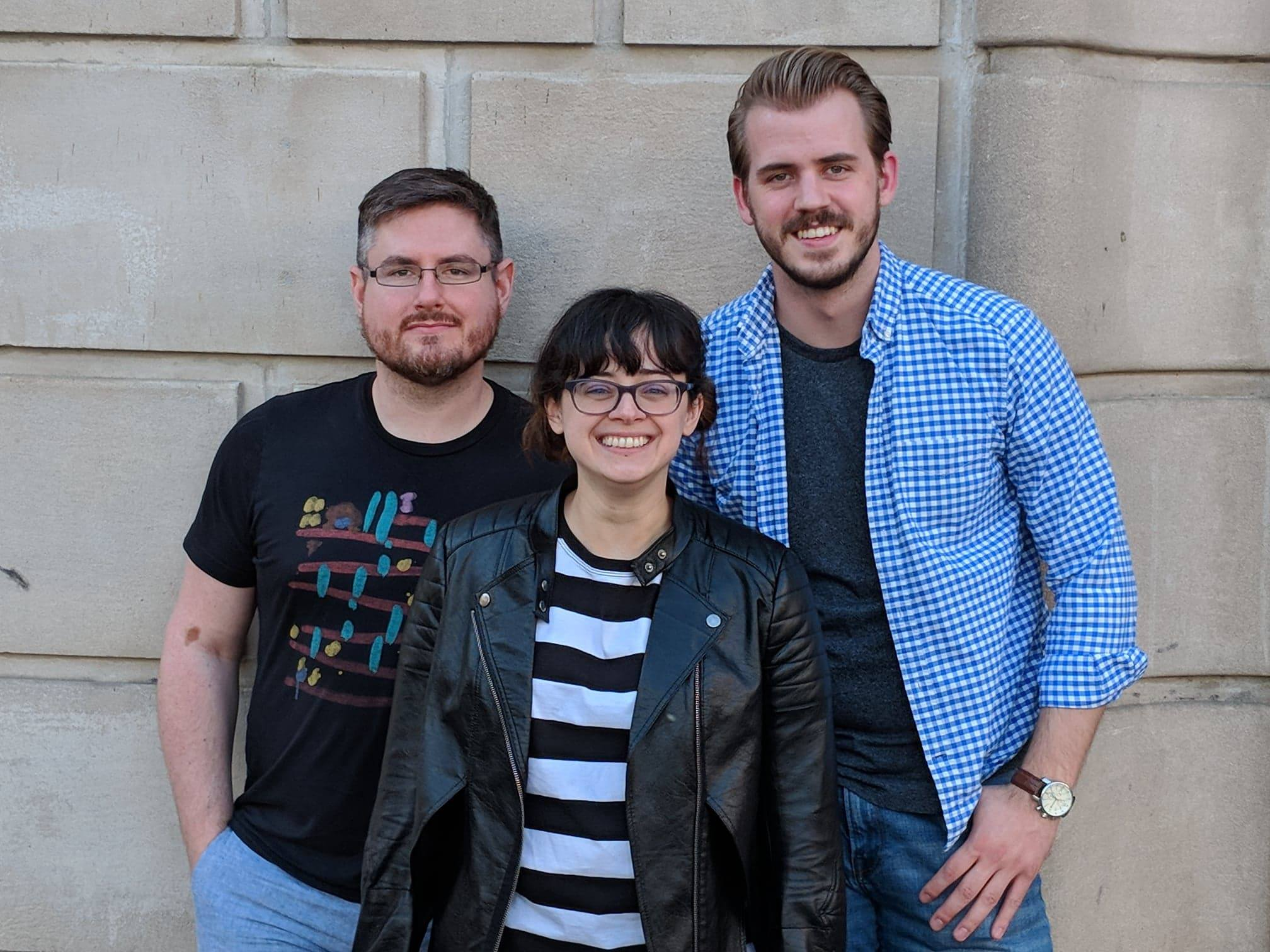 Madison Comedy Week's organizers are, from left to right, Peter Rambo, Cynthia Marie, and Jake Snell.