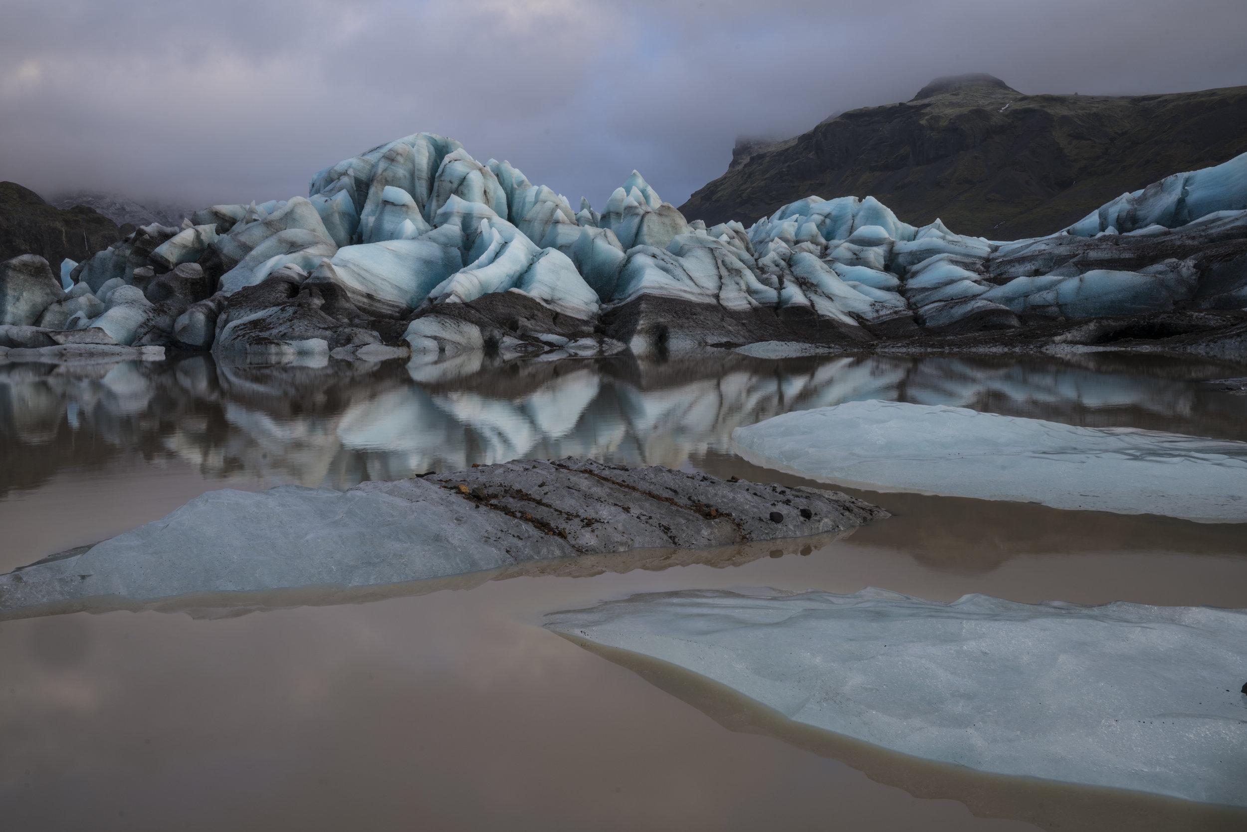 "Michael Kienitz, ""Svinafellsjokull Glacial Snout, South East Iceland, Dec. 2016""."""
