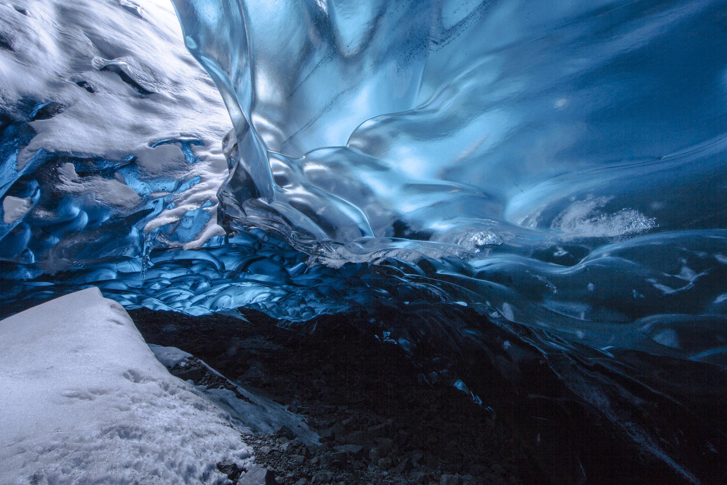 "Michael Kienitz, ""ABC Cave, Vatnajökull National Park, South East Iceland, Dec. 2015."""