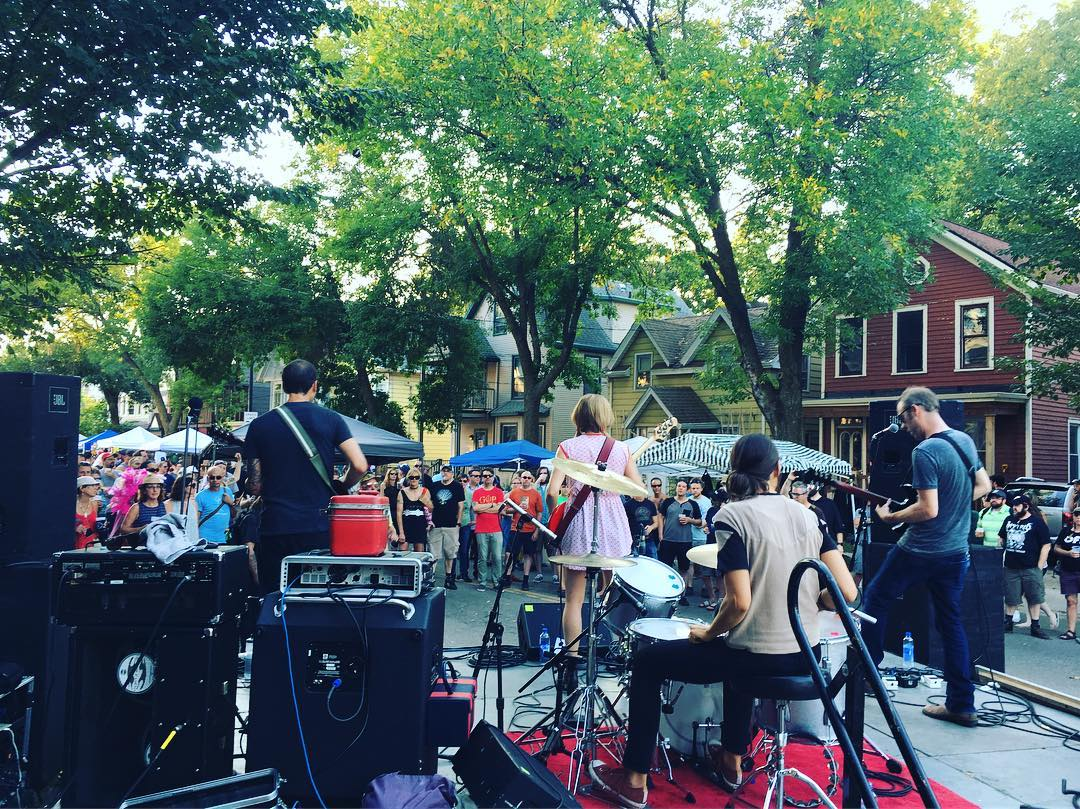 His & Her Vanities closing out our stage at the 2019 Willy Street Fair.