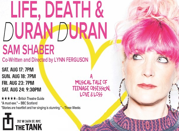 Very excited for the NYC debut! Aug 17, 18, 23, 24 as part of #Ladyfest2019 at @thetanknyc - Tix and info at link in bio. Get 'em before they sell out! #storytelling #nytheatre #duranduran #samshaber #truestories #livetheatre #thetanknyc