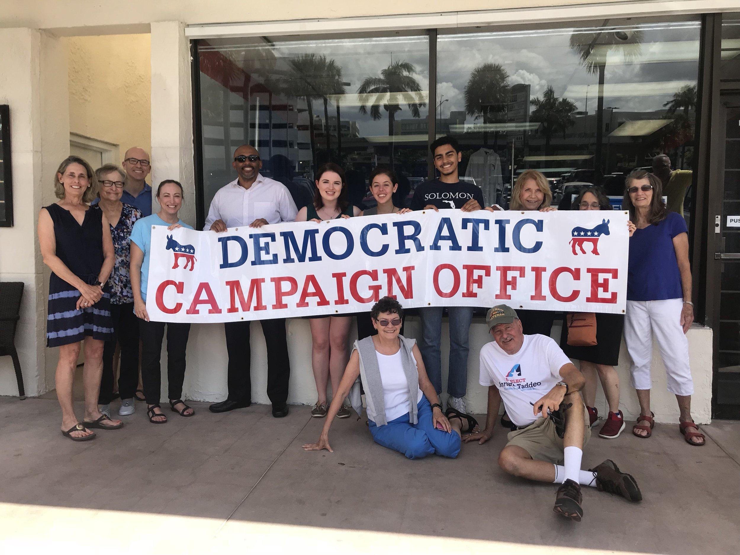 Our volunteers prepare signage!