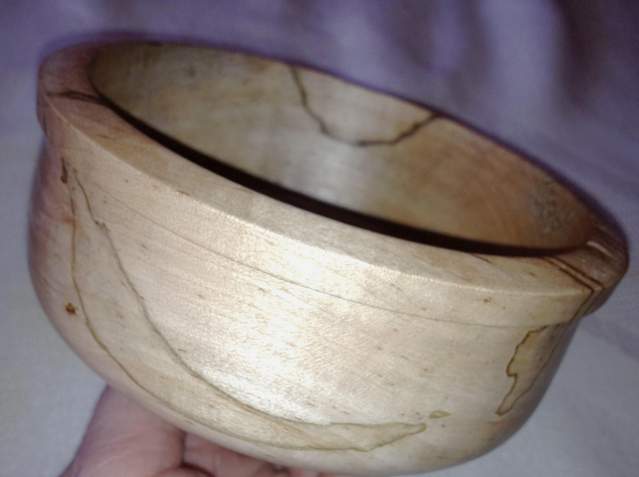 Splatted Maple bowl