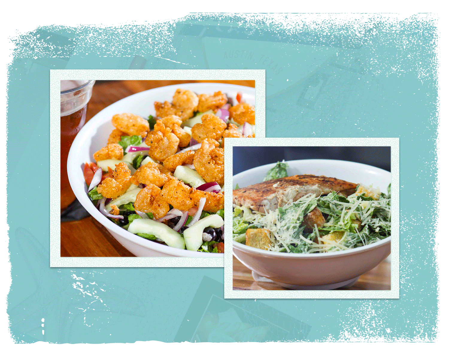 Salads - Dressings: Lemon vinaigrette, Ranch, Creole Ranch, creamy house vinaigrette or Caesar