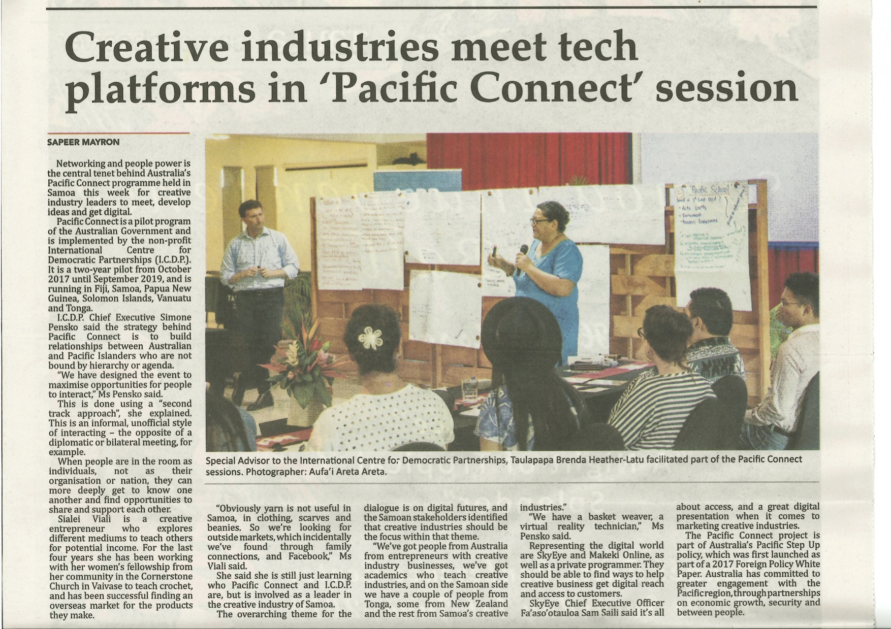 MP in Samoan Newspaper 9May19.jpg