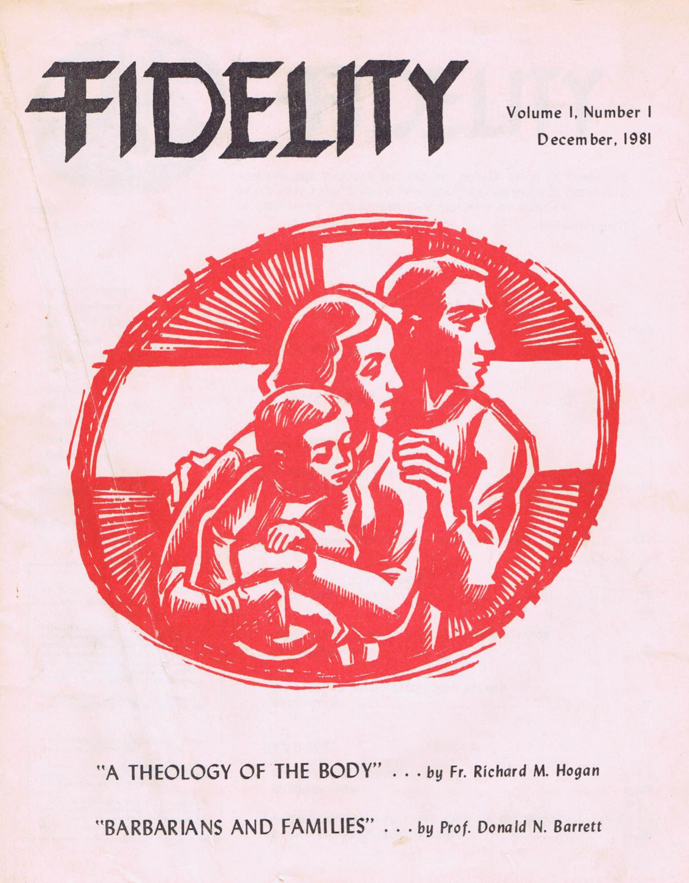 The Cover of the First Issue of Fidelity Magazine