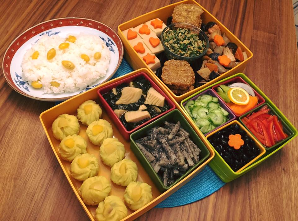 Vegan osechi by Eri