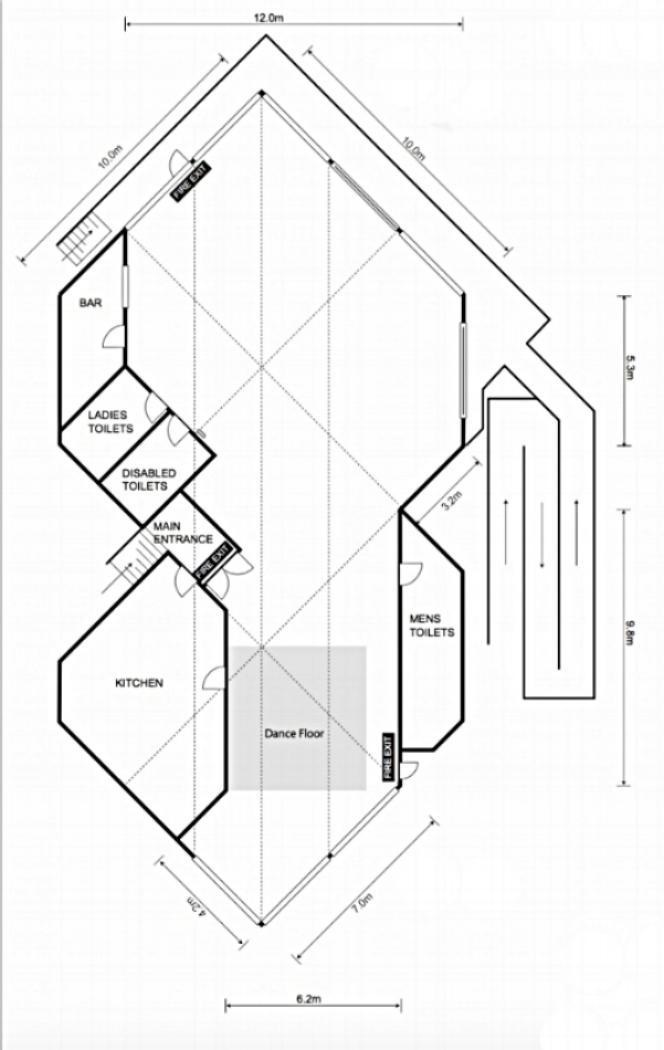 Floor plan of the Chalet