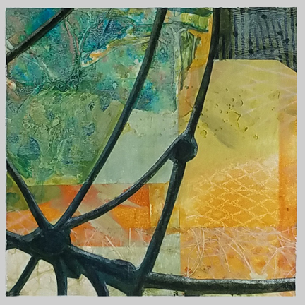 Fish Scales by St. Paul, MN, mixed media artist, Amy Tillotson