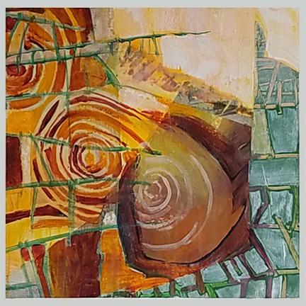Cinnemon Rolls by St. Paul, MN, mixed media artist, Amy Tillotson