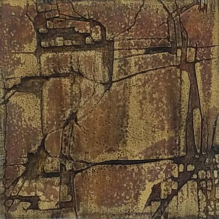 Burnt Toast Scratch  by St. Paul, MN,  mixed media artist, Amy Tillotson