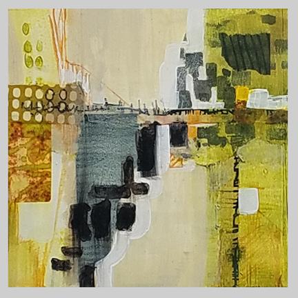 Urban Footprint  by St. Paul, MN,  mixed media artist, Amy Tillotson