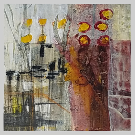 Cattails  by St. Paul, MN, mixed media artist, Amy Tillotson