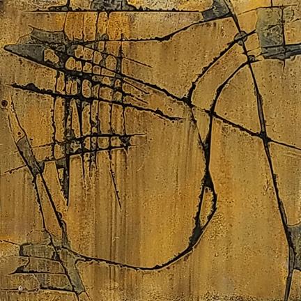 Caramel Scratch  by St. Paul, MN, mixed media artist, Amy Tillotson