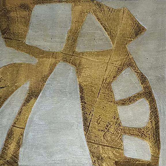 Gold Leaf Tea  by St. Paul, MN, mixedmedia artist, Amy Tillotson