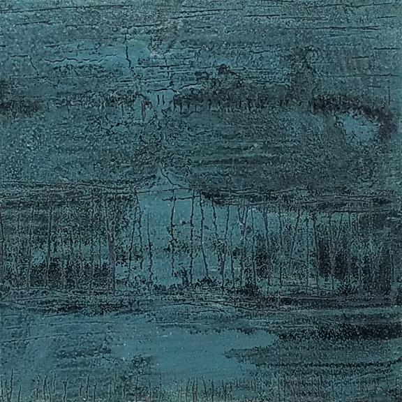 Ocean Scratch  by St. Paul, MN,  mixed media artist, Amy Tillotson