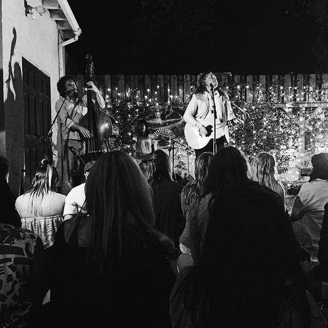 sweet shot from our appearance for @sofarsounds @sofarsoundsla last night✨ . . . #livemusic #sofarsounds #sofar #wearethewest #trio #rocknroll #folkthrash #backyard #venice #sofarLA