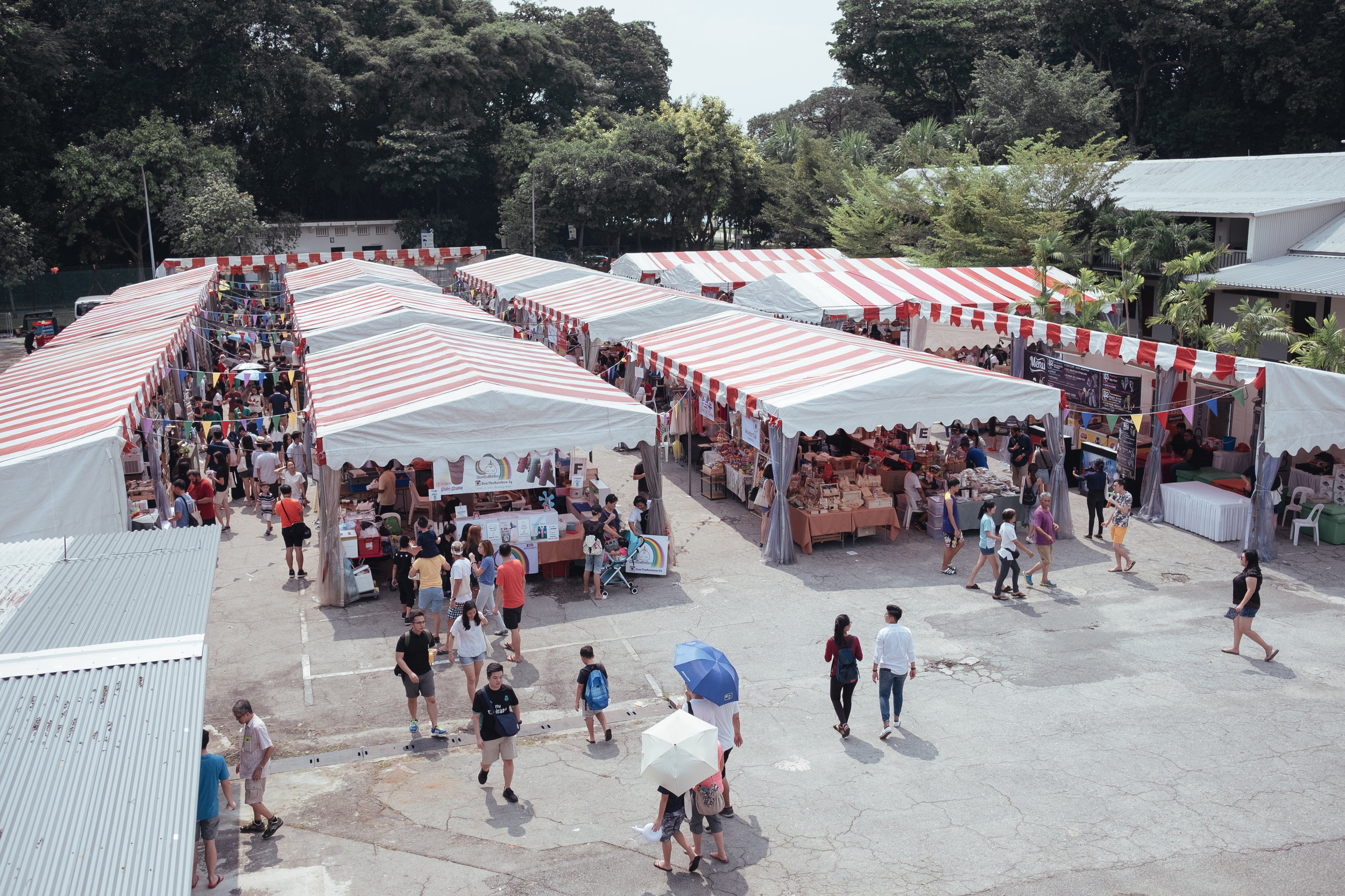 Overview of the stalls