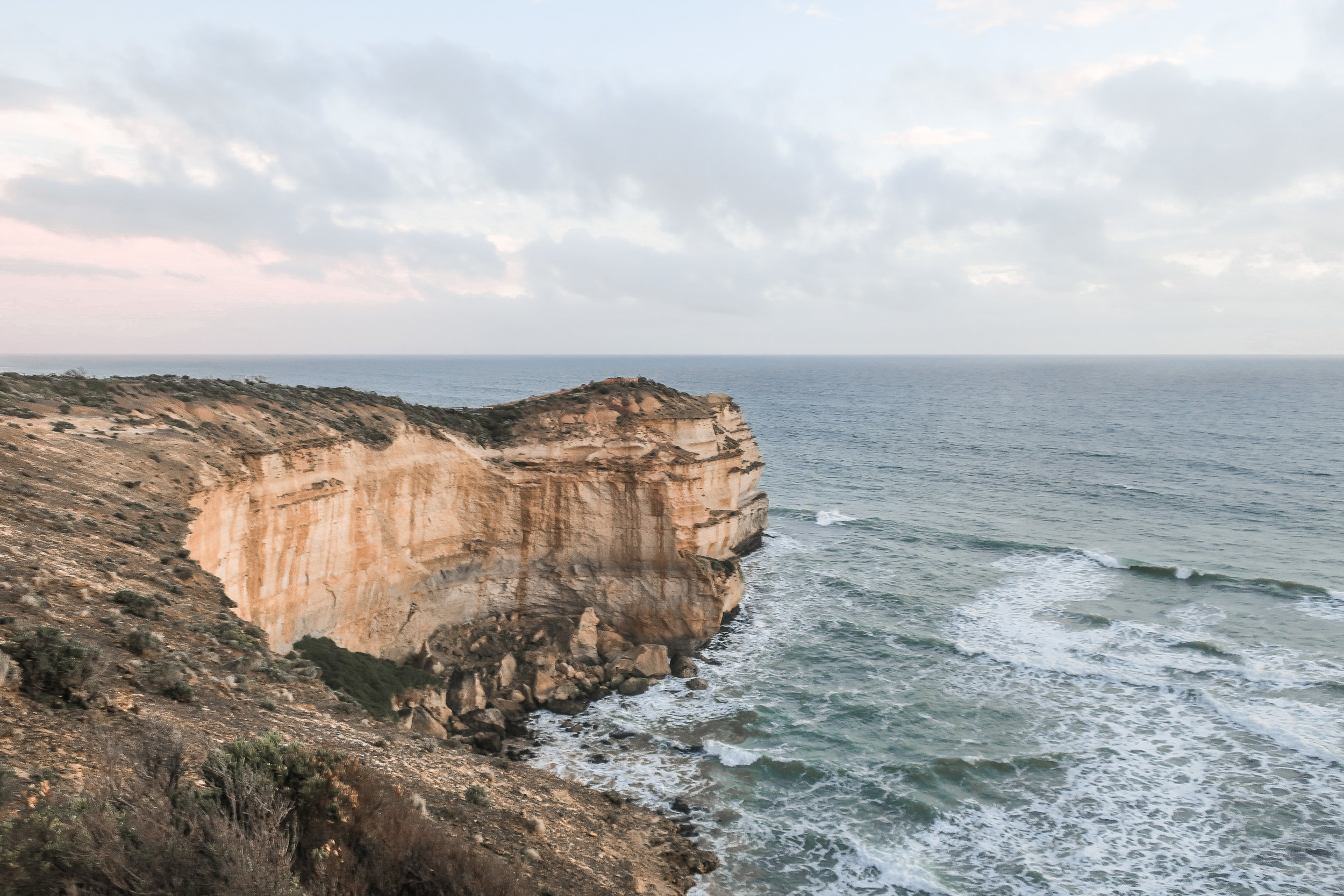 Many parts of the Great Ocean Road makes you feel like you're on the edge of the world.