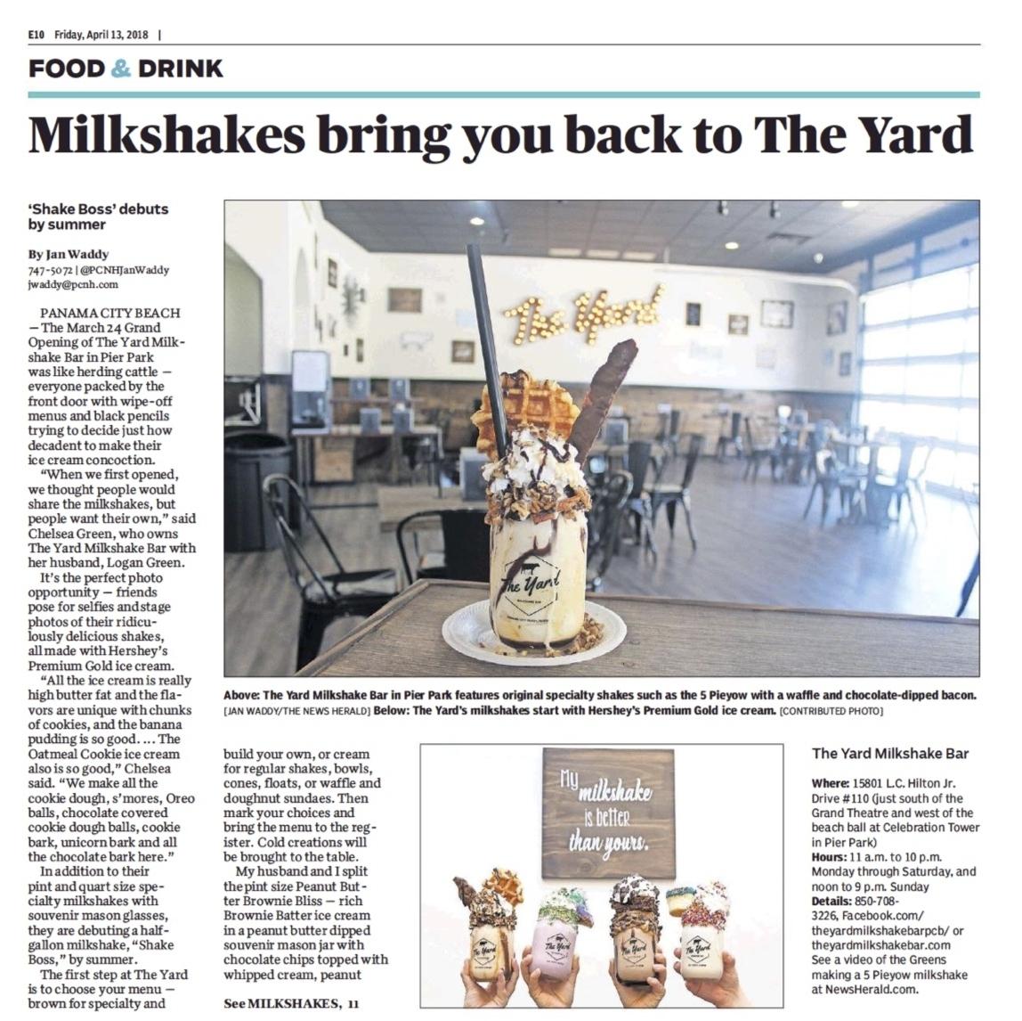 The Yard Milkshake Bar in Panama City Beach