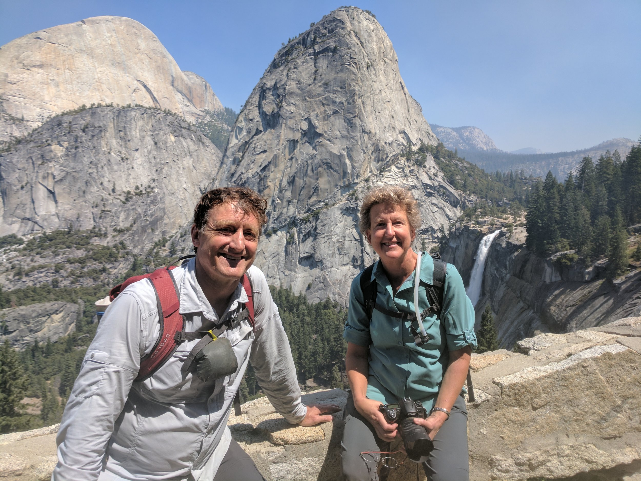 Nevada Falls, Liberty Cap (behind us) and Half Dome