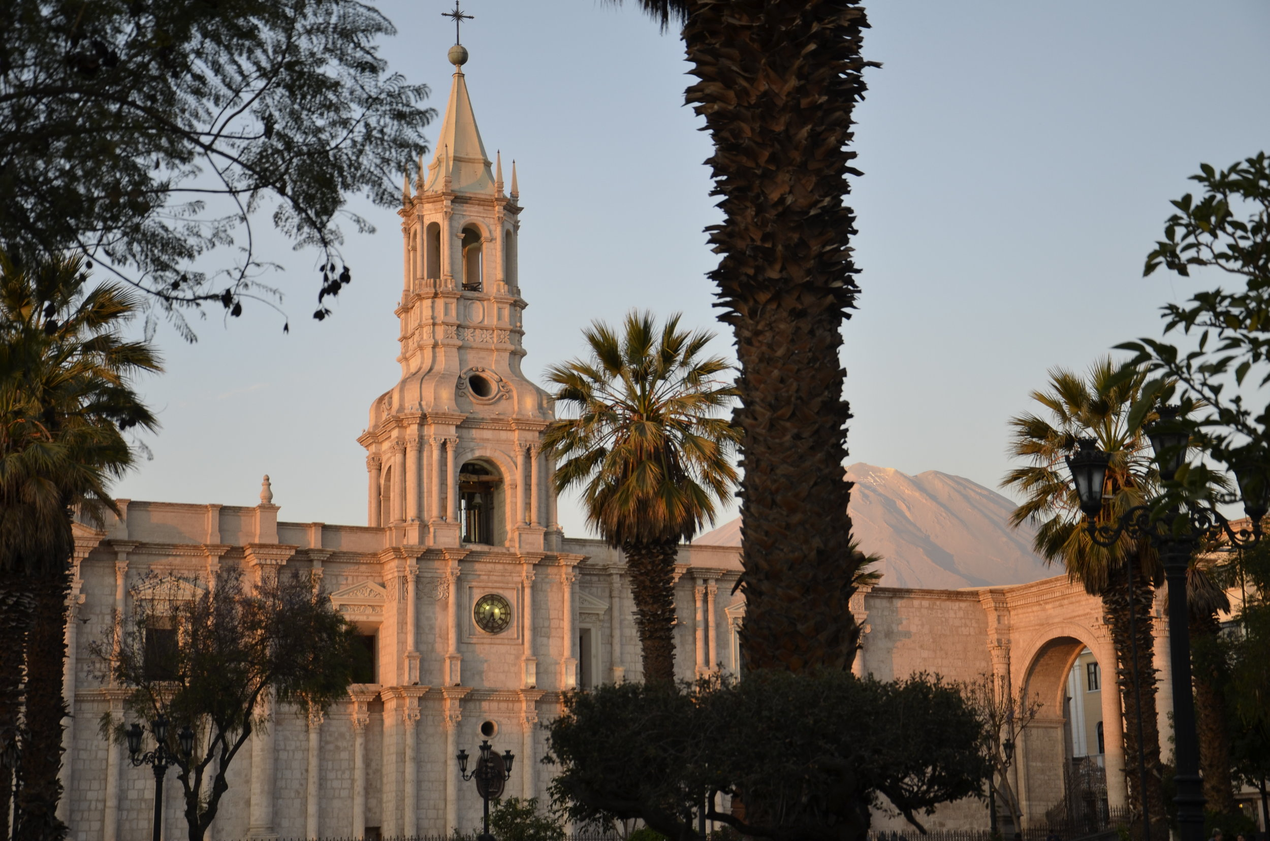 Sunset on the Cathedral in the Plaza
