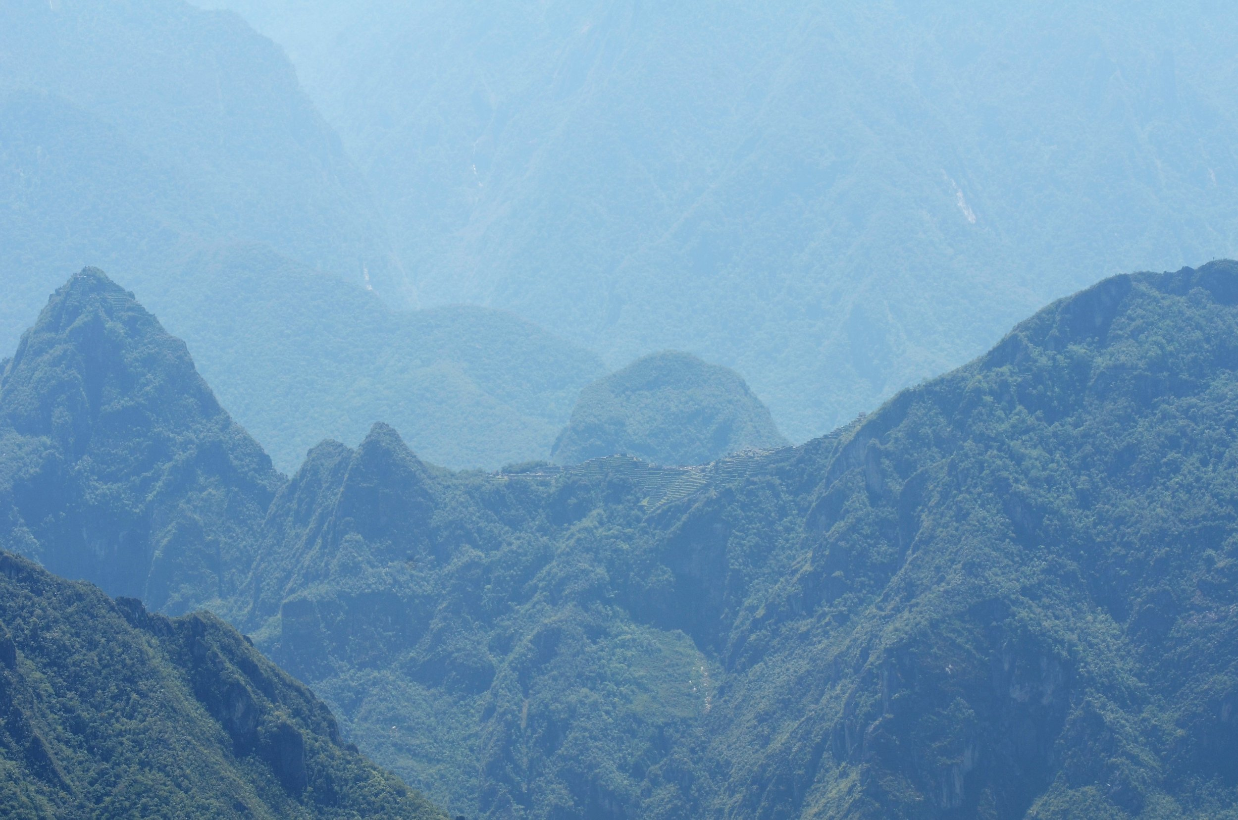 What you can see with your eye... (the peak on the left is Waynu Picchu - more on this later)