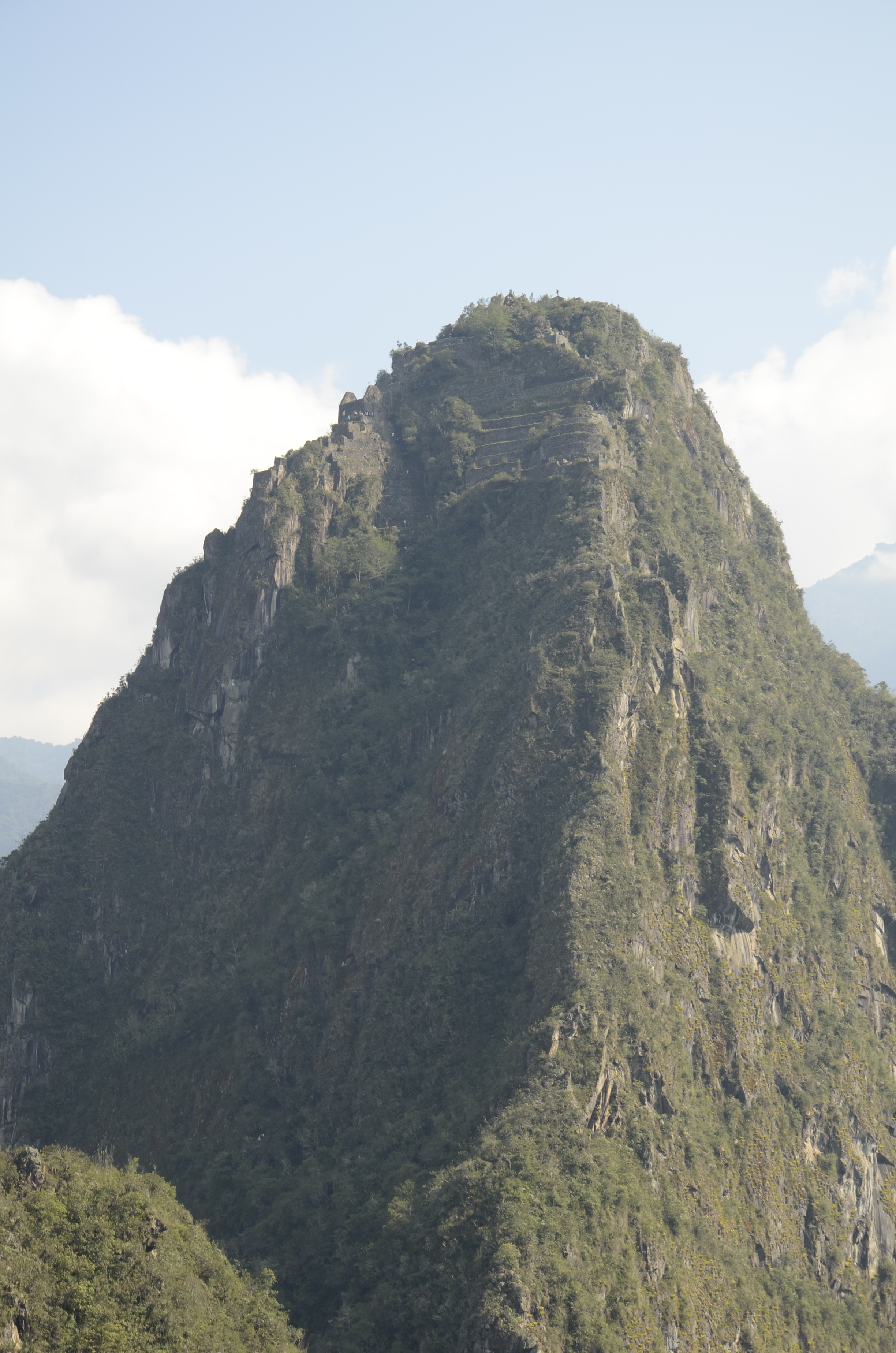 This was my view of WaynuPicchu - Steve is up there somewhere