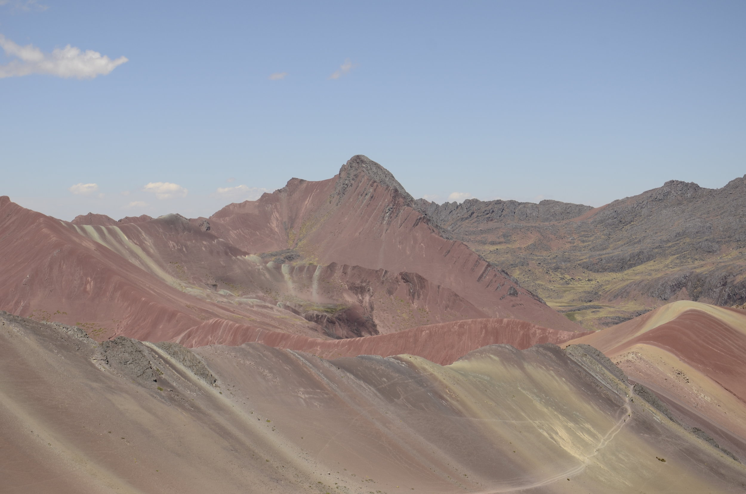 The Red Valley (to the right of Rainbow Mountain)