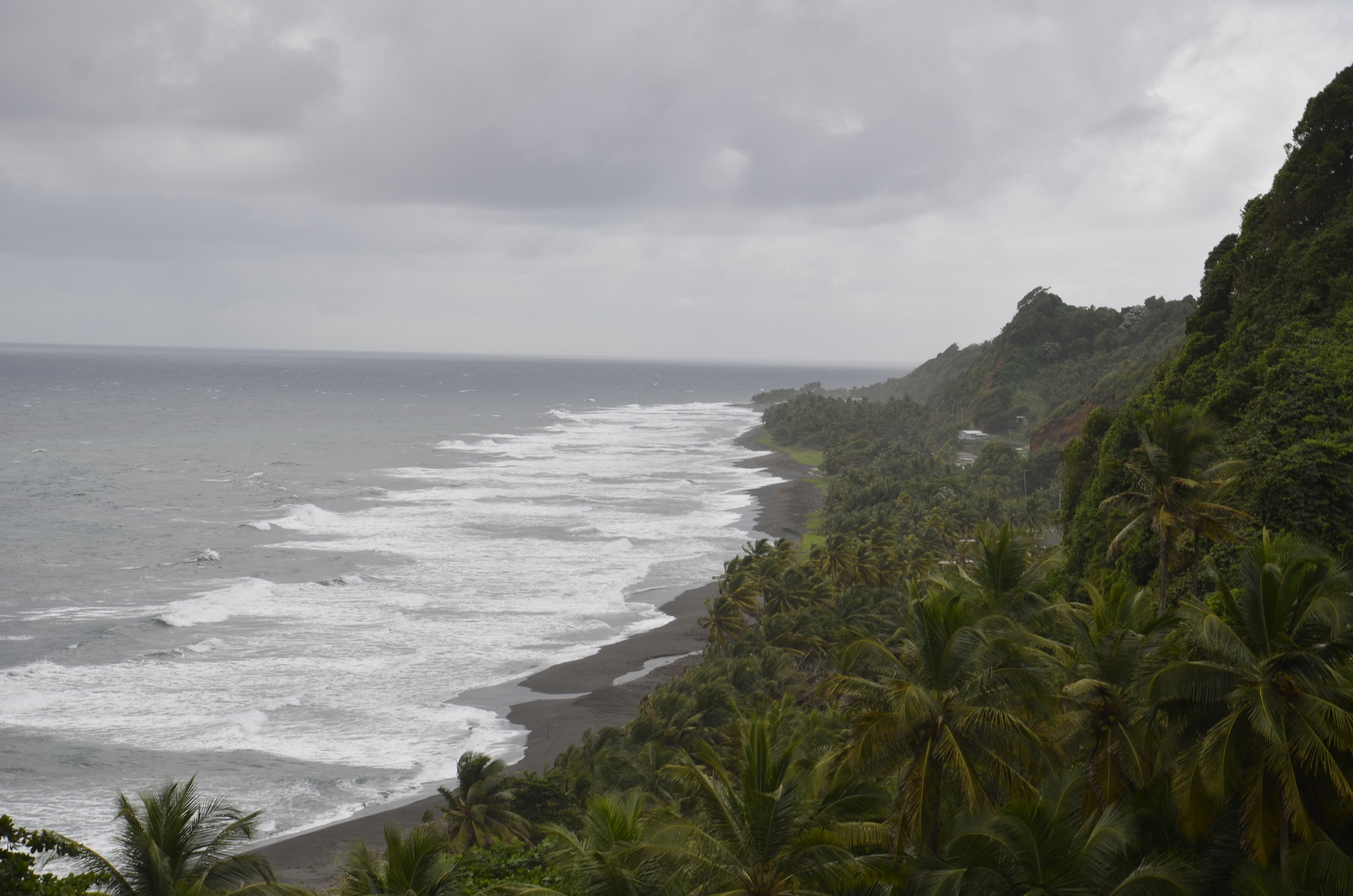 The beaches are mostly black sand, from the volcano.